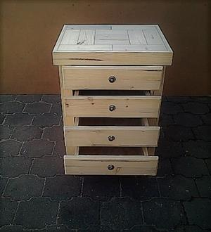 Chest of drawers Farmhouse series 700 with 4 drawers Raw
