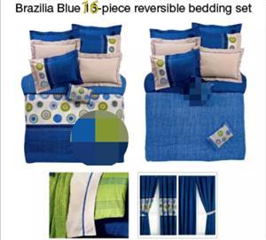 16 piece reversible queen comforter set