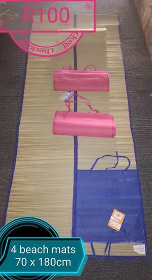4 Pink and blue beach mats
