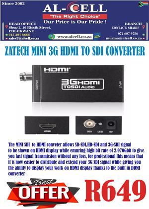 ZATECH MINI 3G HDMI TO SDI CONVERTER
