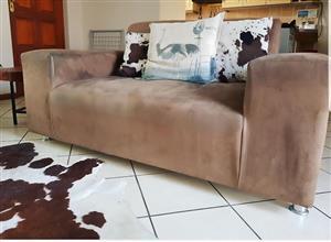 Modern suede beige couch