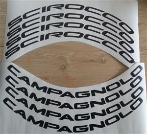 Campagnolo Scirocco bicycle wheel rim decals stickers vinyl cut graphics