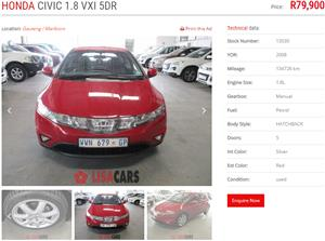 2008 Honda Civic hatch 1.8 VXi