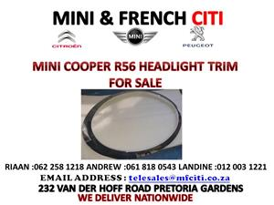 MINI COOPER R56 HEADLIGHT CHROME TRIM FOR SALE !!