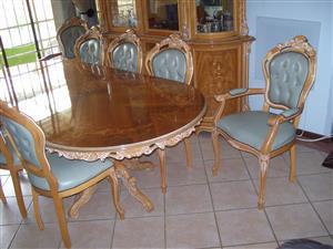 Solid walnut Dining room set