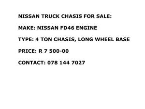 Nissan Truck Chassis For Sale