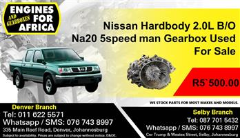 Nissan Hardbody 2.0L B/O Na20 5speed Manual Gearbox Used For Sale