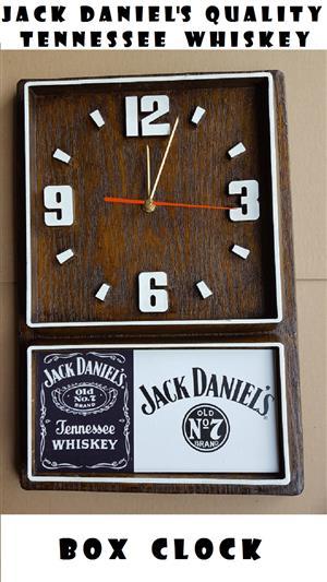 Jack Daniel's Tennessee Whiskey Box Clock. Design 2. Brand New Product.