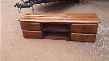 Plasma tafel - sleeper hout