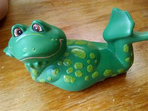 Green frog ceramic ornament for sale