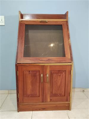 Solid Rosewood display cabinet