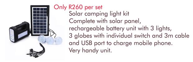 Solar Camping Light Kit