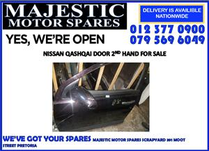 Nissan qashqai door shell for sale