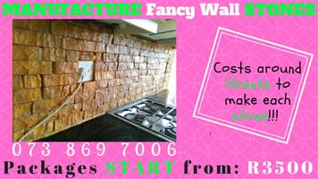 Start your BUSINESS RIGHT NOW Making Decorative Stones for Wall and Pillars