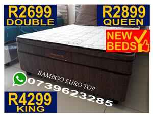 Luxury Orthopedic Bamboo Euro Top Bed Special New Spec Queen R2899,Double R2699,King 4299 Available 24/7 We Deliver