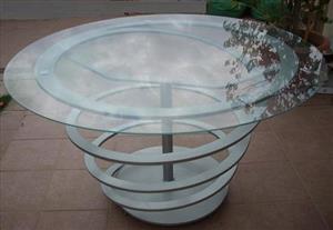 Garden Tables diameter 900 x 8 mm toughened glass