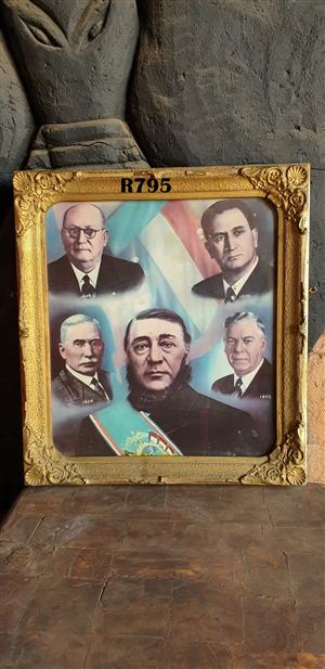 Antique Presidents Wall Hanging (545x600)