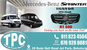 Mercedes Sprinter Grill 2014 -Used - Quality Replacement Taxi Spare Parts.