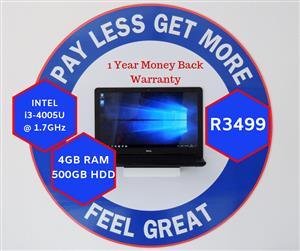 DELL INSPIRON 15 & 12 Months Warranty (423)