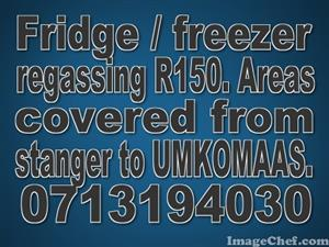 Fridge / freezer repairs - regas R150