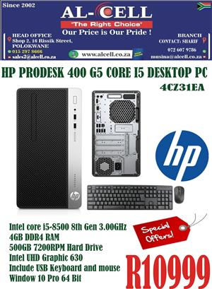 HP Prodesk 400 G5 Core I5 Desktop PC