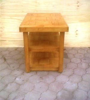 Kitchen Island Farmhouse series 1235 mobile with 2 shelves - Stained