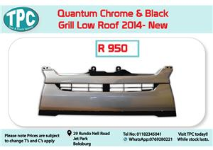Toyota Quantum Chrome & Black Grill Low Roof 2014- New for Sale at TPC