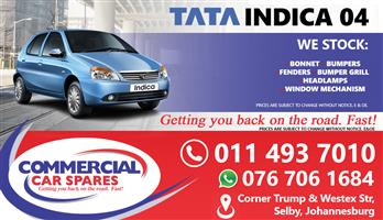 New Tata Indica 04- Body Parts And Spares For Sale At Car Spares
