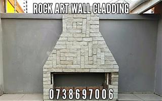 BEAUTIFUL White Rock Art Cladding - Covers around 3-4 SQM