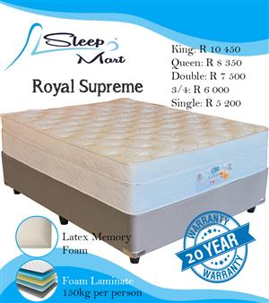 Royal Supreme Bed and Base Queen