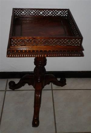 Side Table with carved border