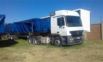 do you have 34 ton side tipper or 10 cubic give us call we have direct contract for it 0790669786
