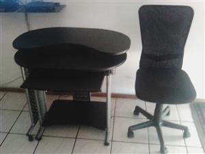 Computer stand and chair