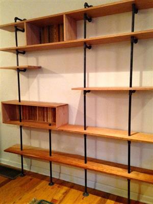 Wood Steel Shelves / Customised Wall Units