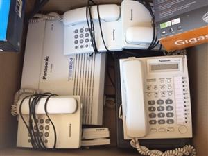 Panasonic Switchboard with all accessories and extra phones