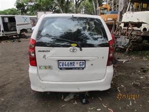 Toyota Avanza 1.5 Stripping For Spares
