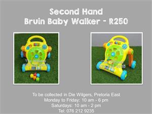 Second Hand Bruin Baby Walker