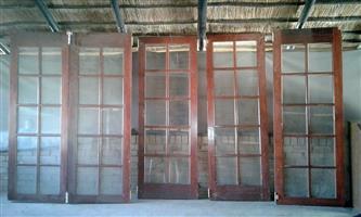 5 Solid maranti doors.