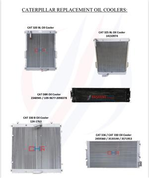New oil coolers and radiators one year warranty for all machines