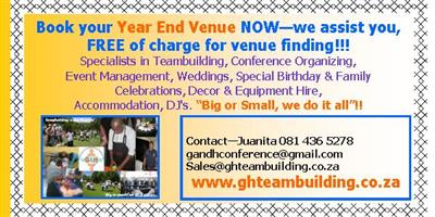 Book your Company Year End Function NOW - we do not charge any service fees!
