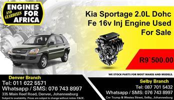 Kia Sportage 2.0L Dohc Fe 16v Inj Engine Used For Sale.