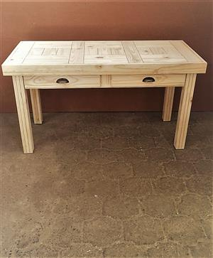 Study desk Farmhouse series 1500 with drawers - Raw