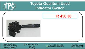Toyota Quantum Used Indicator Switch For Sale.