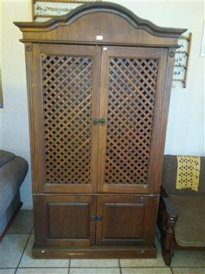 Very large & heavy TV Cabinet with Gable Top.
