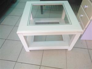White coffee table for sale.