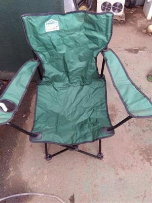 Groen kamp stoel