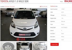 2013 Toyota Aygo 5 door 1.0 Wild