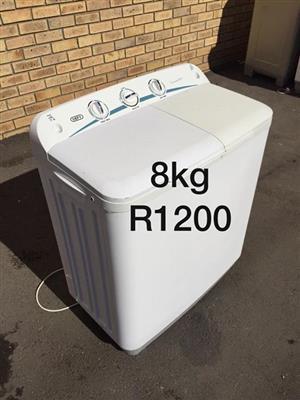 Defy 8kg twin tub washing machine