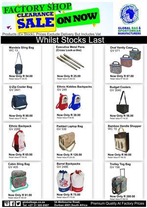 Factory Shop Clearance Sale