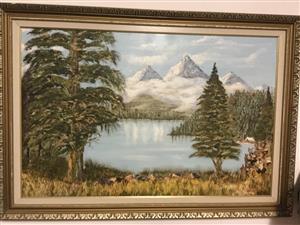 Original oil by Hugo Warren